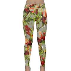 Fruit Blossom Gray Classic Yoga Leggings