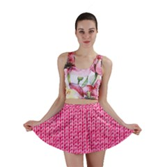 Knitted Wool Bright Pink Mini Skirt