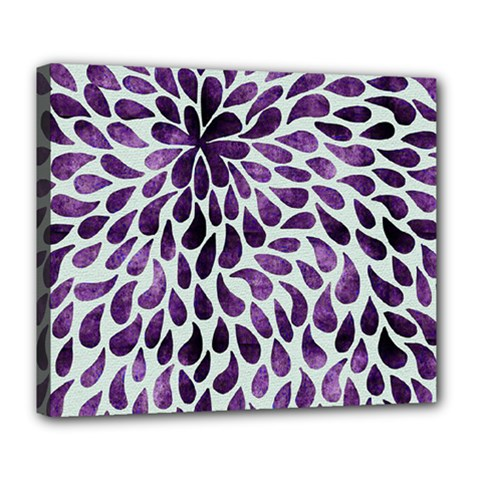 Purple Abstract Swirl Drops Deluxe Canvas 24  X 20
