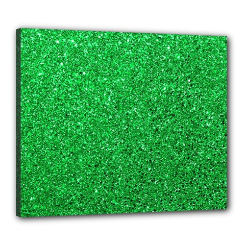 Green Glitter Canvas 24  X 20