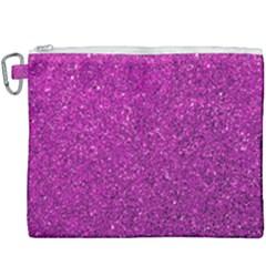 Pink  Glitter Canvas Cosmetic Bag (xxxl) by snowwhitegirl