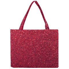 Red  Glitter Mini Tote Bag