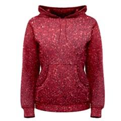Red  Glitter Women s Pullover Hoodie