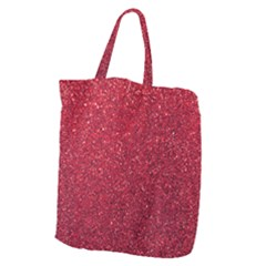 Red  Glitter Giant Grocery Tote