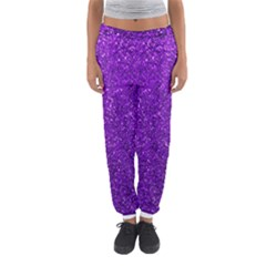 Purple  Glitter Women s Jogger Sweatpants