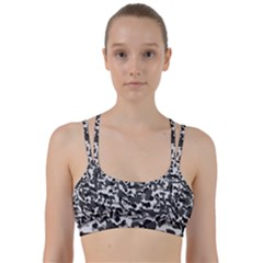 Grey Camo Line Them Up Sports Bra