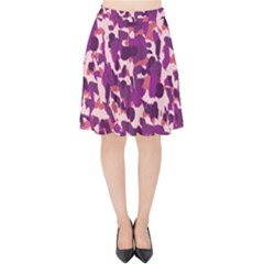 Pink Camo Velvet High Waist Skirt by snowwhitegirl