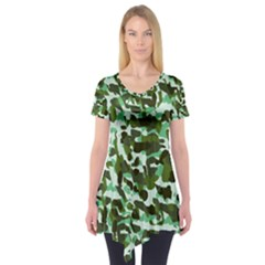 Green Camo Short Sleeve Tunic