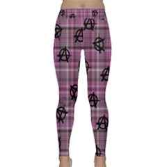 Pink  Plaid Anarchy Classic Yoga Leggings