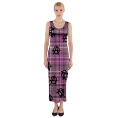 Pink  Plaid Anarchy Fitted Maxi Dress