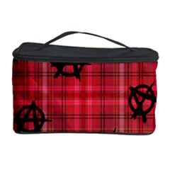 Red Plaid Anarchy Cosmetic Storage