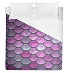 Pink Mermaid Scale Duvet Cover (queen Size) by snowwhitegirl