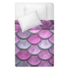 Pink Mermaid Scale Duvet Cover Double Side (single Size) by snowwhitegirl