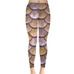 Copper Mermaid Scale Leggings