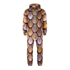 Copper Mermaid Scale Hooded Jumpsuit (kids)