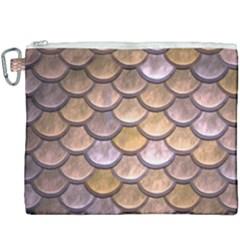 Copper Mermaid Scale Canvas Cosmetic Bag (xxxl)