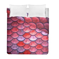 Red Mermaid Scale Duvet Cover Double Side (full/ Double Size) by snowwhitegirl