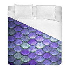 Blue Purple Mermaid Scale Duvet Cover (full/ Double Size) by snowwhitegirl