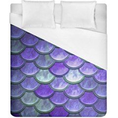 Blue Purple Mermaid Scale Duvet Cover (california King Size) by snowwhitegirl