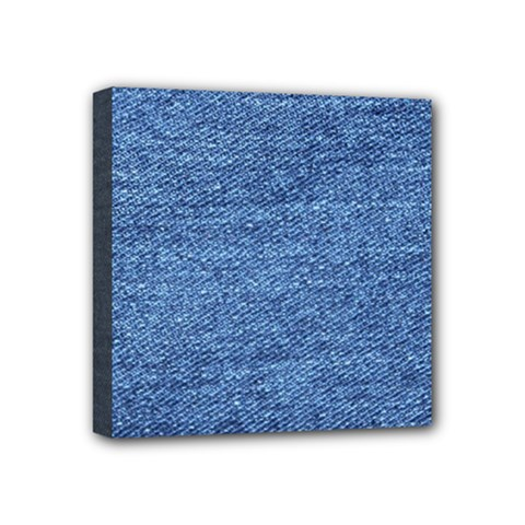 Blue Denim Mini Canvas 4  X 4  by snowwhitegirl