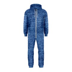 Blue Denim Hooded Jumpsuit (kids)