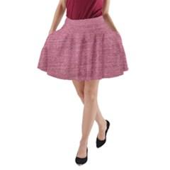 Pink  Denim A Line Pocket Skirt