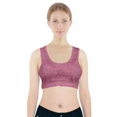 Pink  Denim Sports Bra With Pocket
