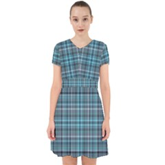 Teal Plaid Adorable In Chiffon Dress