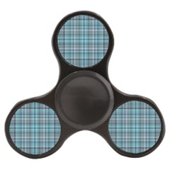 Teal Plaid Finger Spinner by snowwhitegirl