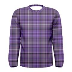 Purple  Plaid Men s Long Sleeve Tee