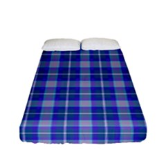Blue Teal Plaid Fitted Sheet (full/ Double Size)