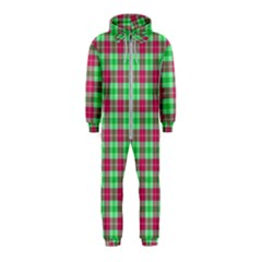 Pink Green Plaid Hooded Jumpsuit (kids)