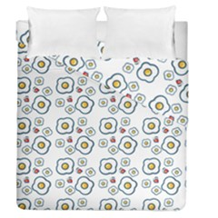 Eggs White Duvet Cover Double Side (queen Size) by snowwhitegirl