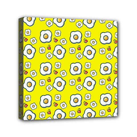 Eggs Yellow Mini Canvas 6  X 6  by snowwhitegirl