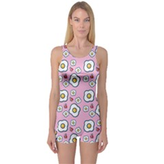 Eggs Pink One Piece Boyleg Swimsuit