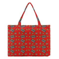 Fast Food Red Medium Tote Bag