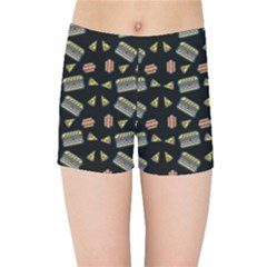Fast Food Black Kids Sports Shorts