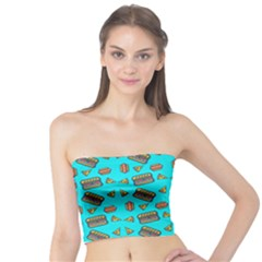 Fast Food Blue Tube Top