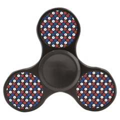 Eye Dots Red Blue Finger Spinner by snowwhitegirl