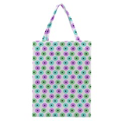 Eye Dots Green Violet Classic Tote Bag