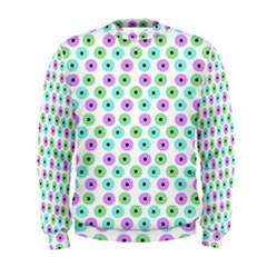 Eye Dots Green Violet Men s Sweatshirt
