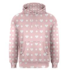 Hearts Dots Pink Men s Pullover Hoodie