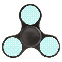 Hearts Dots Blue Finger Spinner
