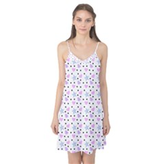Hearts And Star Dot White Camis Nightgown