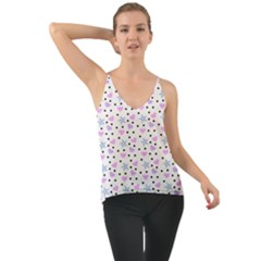 Hearts And Star Dot White Cami