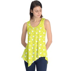 Hearts And Star Dot Yellow Sleeveless Tunic