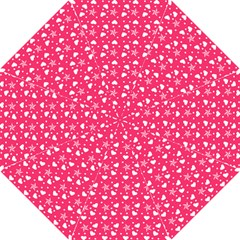 Hearts And Star Dot Pink Hook Handle Umbrellas (small)