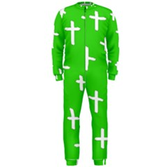Green White Cross Onepiece Jumpsuit (men)