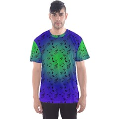 Blue Music Green Moon Men s Sports Mesh Tee
