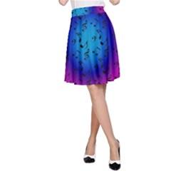 Pink Music Blue  Moon A Line Skirt